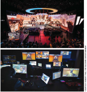 Blizzard Arena in Los Angeles is a venue dedicated to eSports – and filled with technology systems and tech savvy people.